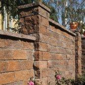 Камінь для забору Золотий Мандарин (двосторонній скол) 350х180х150 мм персиково-коричневий