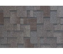 Бітумно-полімерна черепиця Tegola Nobil Tile Акцент 1000х337 мм сіро-коричневий