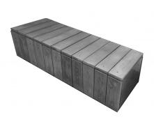 Скамейка ЗОЛОТОЙ МАНДАРИН Кантри 410х600х1730 мм серый
