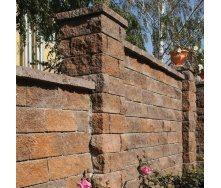 Камень для столбиков Золотой Мандарин трехсторонний скол 300х100х150 мм персиково-коричневый