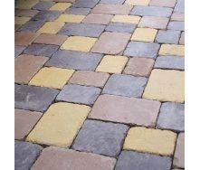 Тротуарная плитка Золотой Мандарин Плац 160х60 мм на сером цементе коричневый