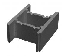 Блок бетонний незнімної опалубки Золотий Мандарин М-100 510х400х235 мм