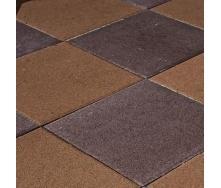 Тротуарна плитка Золотий Мандарин Плита 400х400х60 мм на сірому цементі персиковий