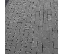 Тротуарная плитка Золотой Мандарин Кирпич без фаски 200х100х60 мм серый
