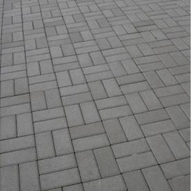 Тротуарна плитка Золотий Мандарин Цегла стандартна 200х100х40 мм сірий