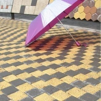Тротуарна плитка Золотий Мандарин Меланж Квадрат 100х100х60 мм мандарин