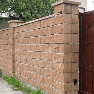 Блок декоративний Золотий Мандарин М-200 односторонній скол 400х200х200 мм персиковий