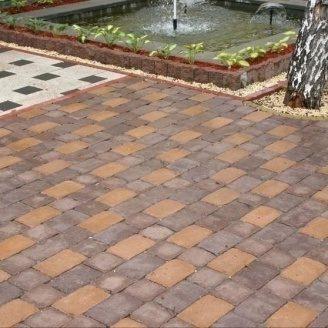 Тротуарная плитка Золотой Мандарин Кирпич Антик 240х160х90 мм полный прокрас персиковый