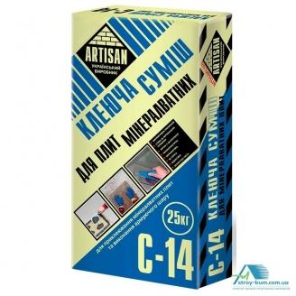 Клей для мінеральних плит Артисан С-14 25 кг