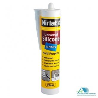 Универсальный санитарный герметик Nirlat Universal Silikon 280 мл прозрачный