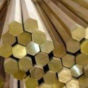 Латунний шестигранник ЛС 59-1 № довжиною 3 м\п м'який твердий напівтвердий 13 мм