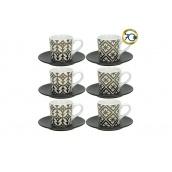 Набір кавових чашок TOGNANA RELIEFGOLD WHI 6 шт 90 мл (RE18501M006)
