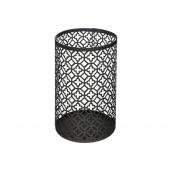 Підсвічник ATMOSPHERA металевий чорний у вигляді циллиндра 10x15,5 см (160005-1)
