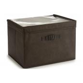 Ящик для зберігання ARTE REGAL нетканий темно-коричневий 38x25x25 см (22009-1)