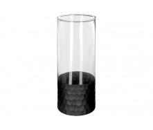 Ваза для квітів прозора ATMOSPHERA з чорним дном 24 см (166050)