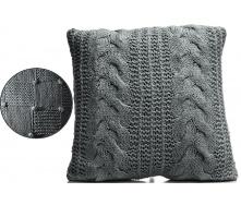 Подушка ARTE REGAL 45х45см темно-сіра (23582-3)