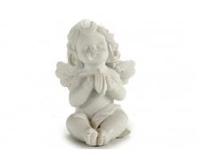 Статуетка Ангел з тарілочками ARTE REGAL білий 5x7x9 см 85 г (20027-3)