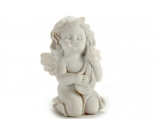 Статуетка Ангел з гуслями ARTE REGAL білий 5x7x9 см 85 г (20027-1)