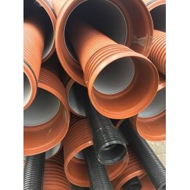 Труба канализационная гофрированная 200 мм 6 м