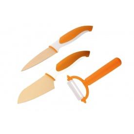Набор ножей и овощечистка GRANCHIO оранжевый 3 шт. (88685)