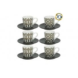 Набор кофейных чашек TOGNANA RELIEFGOLD WHI 6 шт 90 мл (RE18501M006)