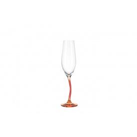 Бокал для шампанского LEONARDO Modella красно-оранжевый 215 мл (78791)