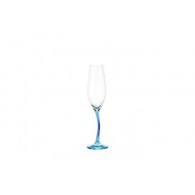 Бокал для шампанского LEONARDO Modella 215 мл небесно-голубой (78800)
