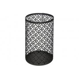 Подсвечник ATMOSPHERA металлический черный в виде циллиндра 10x15,5 см (160005-1)