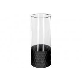 Ваза для цветов прозрачная ATMOSPHERA с черным дном 24 см (166050)
