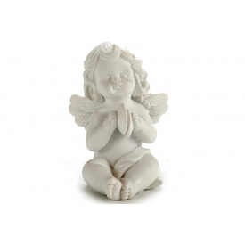 Статуэтка Ангел с тарелочками ARTE REGAL белый 5x7x9 см 85 г (20027-3)