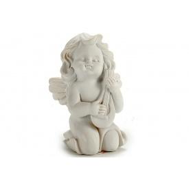 Статуэтка Ангел с гуслями ARTE REGAL белый 5x7x9 см 85 г (20027-1)