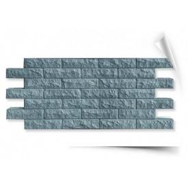 Фасадная термопанель Гранитолит Колотый кирпич 1120х500х50 мм серая