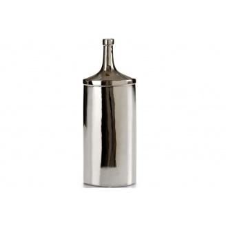Бутылка ARTE REGAL керамическая овальная большая черно серебро 10x16x43 см (21335)