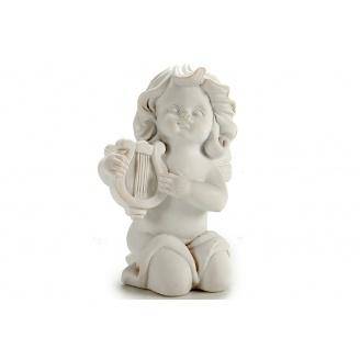 Статуетка Ангел з арфою ARTE REGAL білий 5x7x9 см 85 г (20027-2)