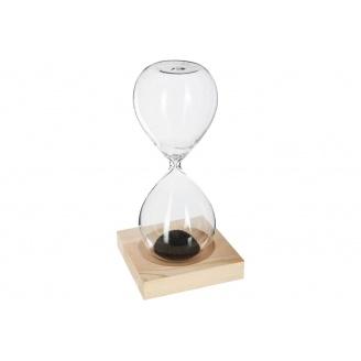 Магнітні пісочний годинник ATMOSPHERA на дерев'яній підставці 6x6x15 см (158089)