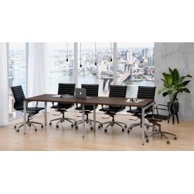 Стол для переговоров Q-2700х750х1000 мм LoftDesign лдсп венге-корсика