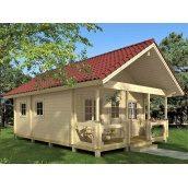 Дом деревянный из профилированного бруса 5.6х6.4