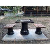 Комплект Шаховий стіл 800х800х730 мм