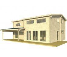 Дом деревянный из профилированного бруса 10.5х8.1