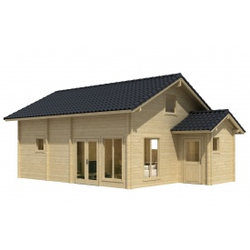 Дом деревянный из профилированного бруса 7.4х5.4