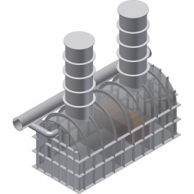 Сепаратор нафтопродуктів для установки в грунт 25 л/сек