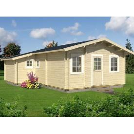 Дом деревянный из профилированного бруса 6.4х7.6