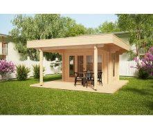 Дом деревянный из профилированного бруса 5х5