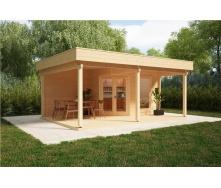 Дом деревянный из профилированного бруса 6х4