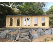 Дом деревянный из профилированного бруса 4х8