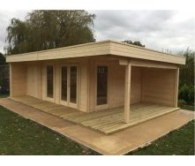Дом деревянный из профилированного бруса 5х8