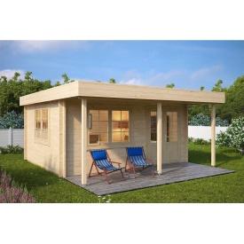 Дом деревянный из профилированного бруса 4х5