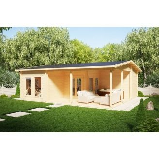 Дом деревянный из профилированного бруса 7х9