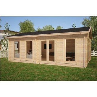 Дом деревянный из профилированного бруса 4х7
