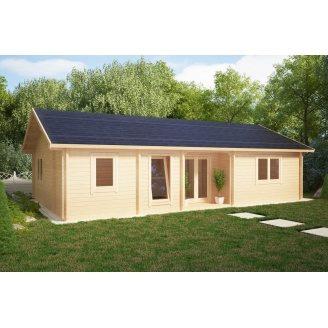 Дом деревянный из профилированного бруса 12х6